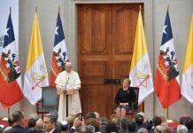 Papa Francesco in Cile - incontro con potere