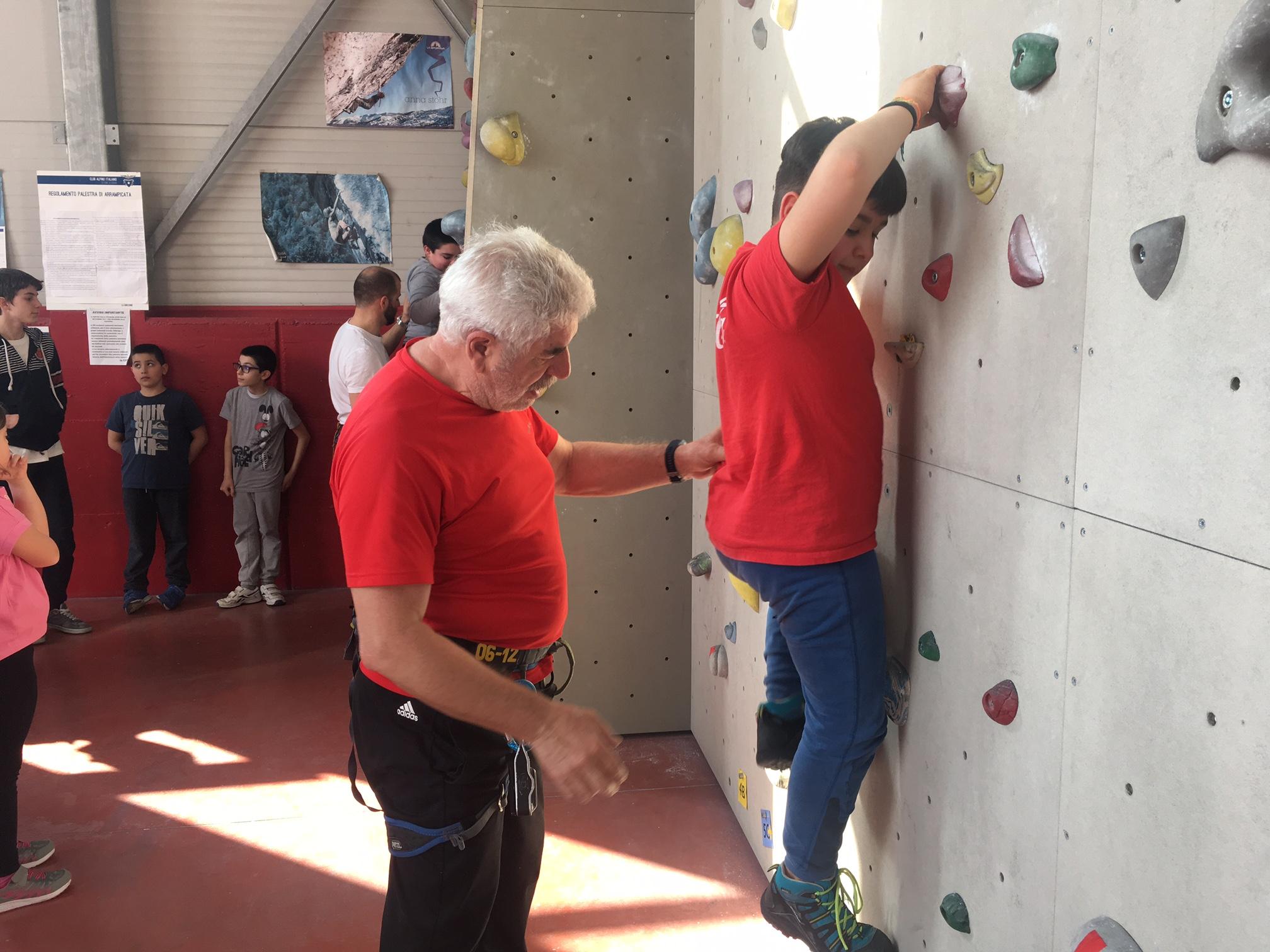 lezione arrampicata